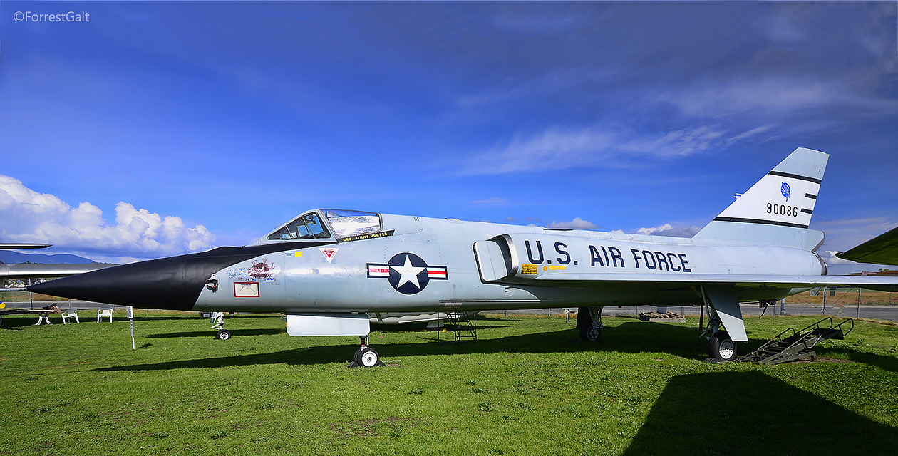 The F-106 Delta Dart on the field at the Pacific Coast Air Museum.