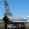 F-106 Delta Dart interceptor jet aircraft, shown from the right rear.