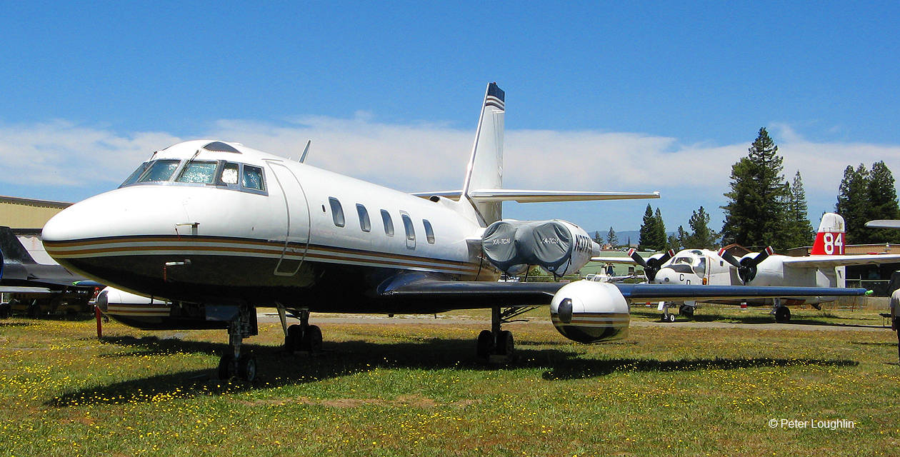 Lockheed Jetstar business jet at the Pacific Coast Air Museum.