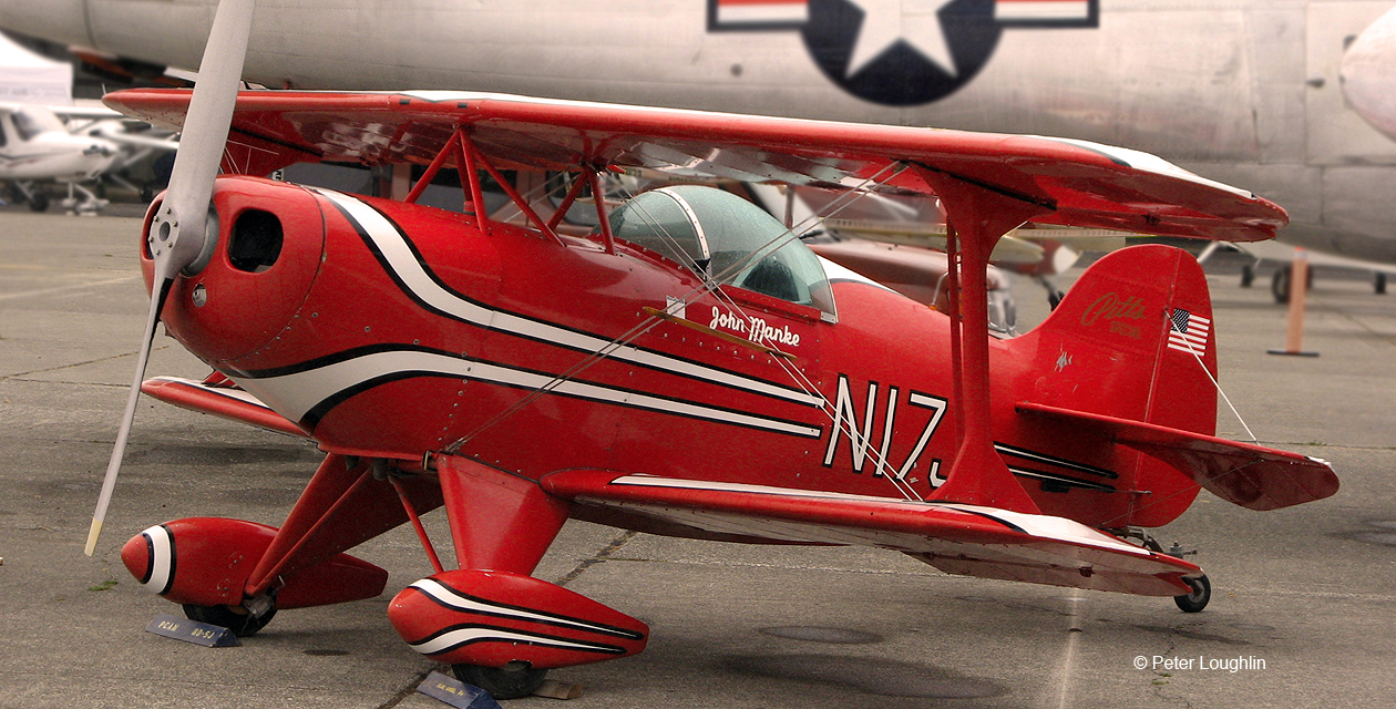 Pitts Special on the ramp as a static display aircraft during the 2014 Wings Over Wine Country Air Show