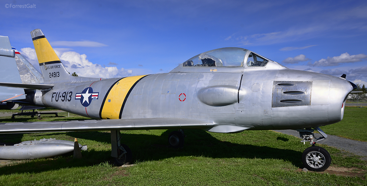 RF-86F Sabre on the field at the Pacific Coast Air Museum