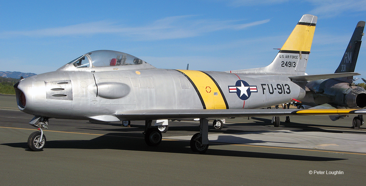 RF-86F Sabre on the ramp at the Wings Over Wine Country Air Show