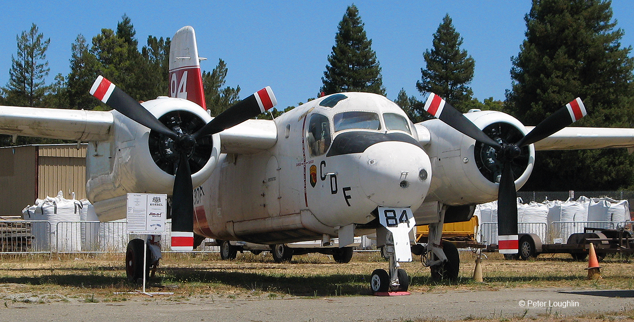 The S-2 Tracker on the field at the Pacific Coast Air Museum.