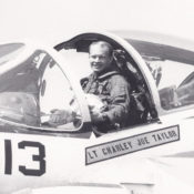 close-up photo of pilot sitting in the cockpit of an a-6 Intruder attack aircraft