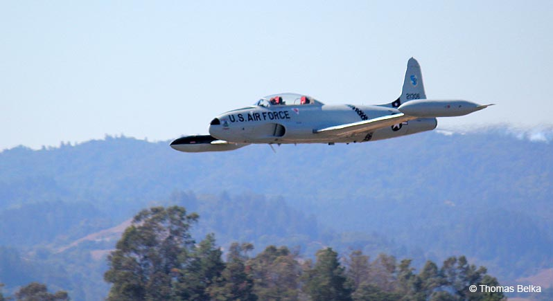Greg Colyer flies his AceMaker T-33 at the 2014 Wings Over Wine Country Air Show