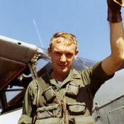 Vietnam era O-1 pilot close up