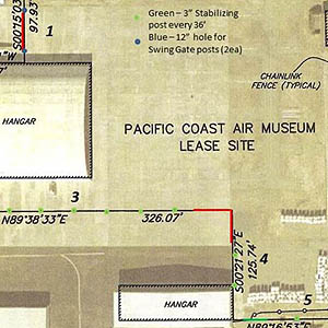 partial plot plan or map of new museum location