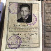 photo of post-World War II German identity papers