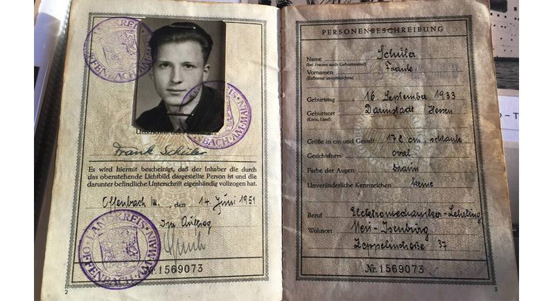 photo of post-World War II German identity papers