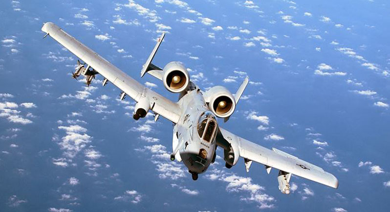 USAF A-10 Thunderbolt II in flight