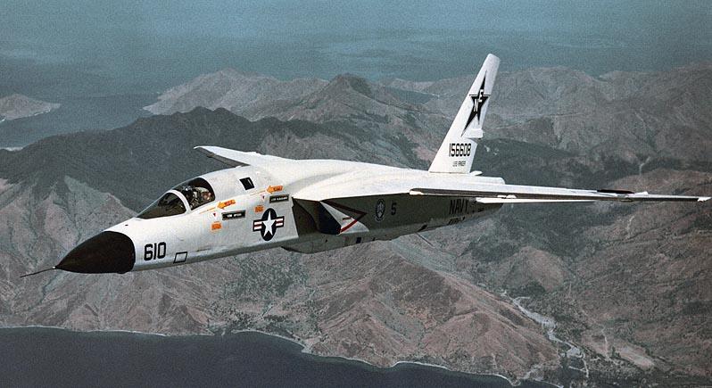 RA-5C Vigilante jet combat plane in flight