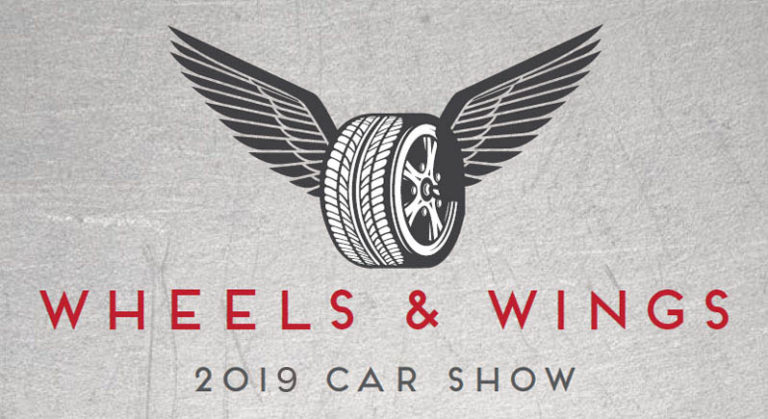 Wheels & Wings 2019 Car Show logo