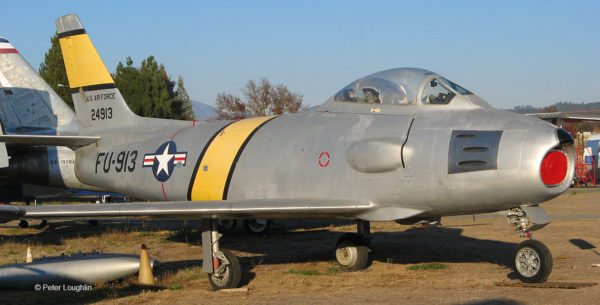 RF-86F on the field at the Pacific Coast Air Museum
